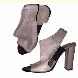 Vince grey and black Velcro heels open toe 9.5